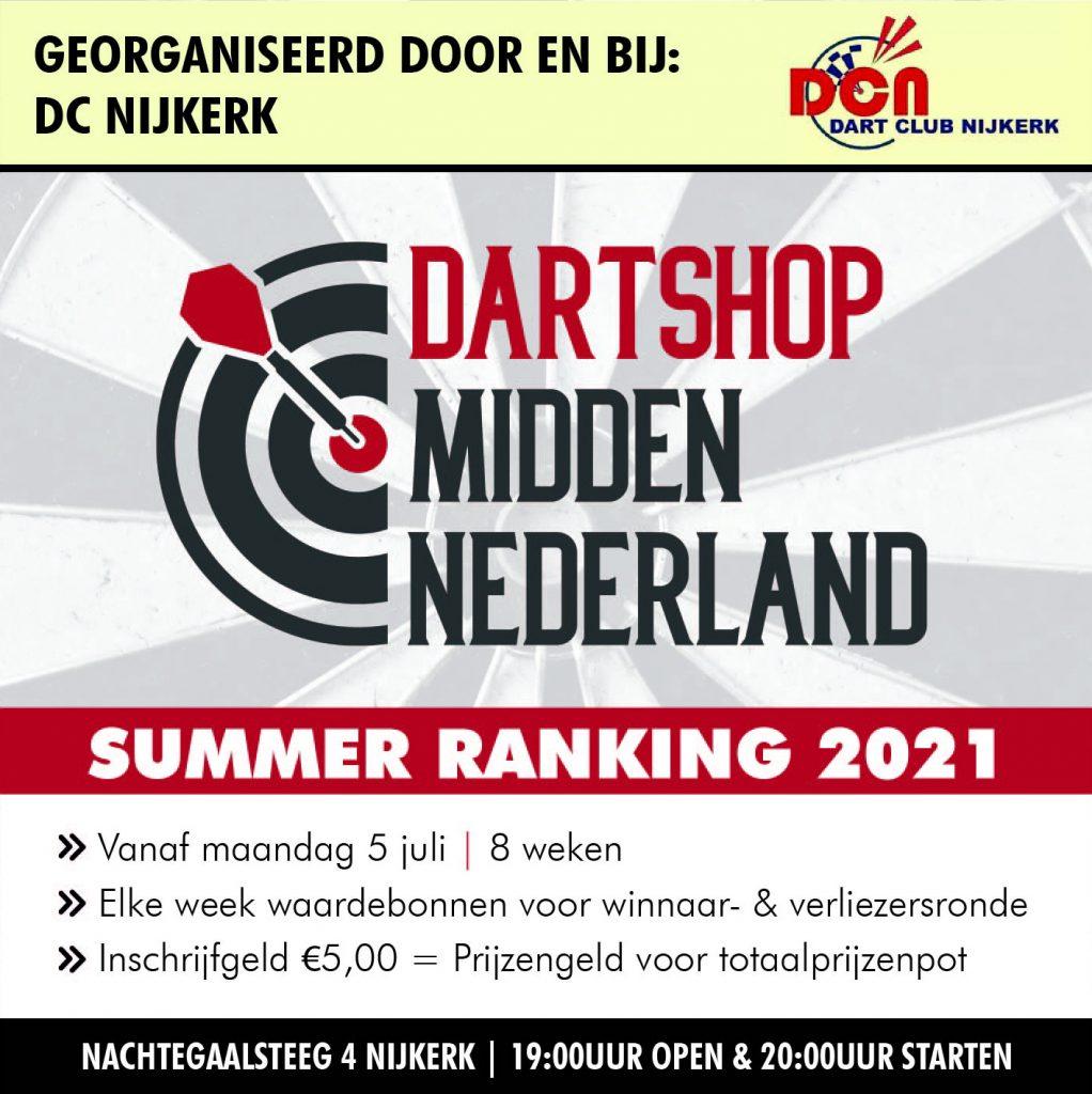 Dartshop Midden Nederland Summer Ranking 2021
